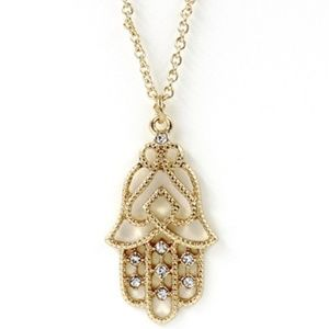 Jewelry - Gold plated Hamsa Necklace 2pc set